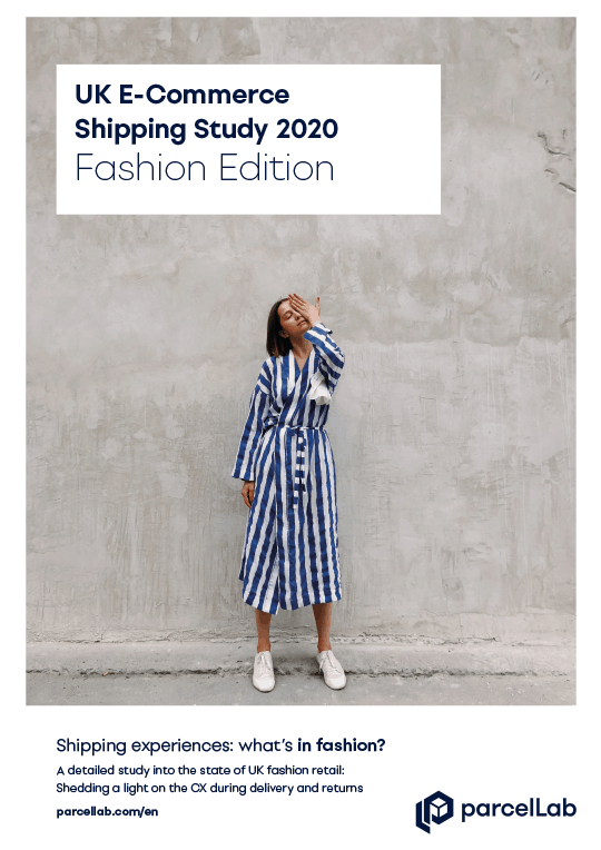 parcellab uk ecommerce fashion study 2020 thumbnail of woman infront of wall
