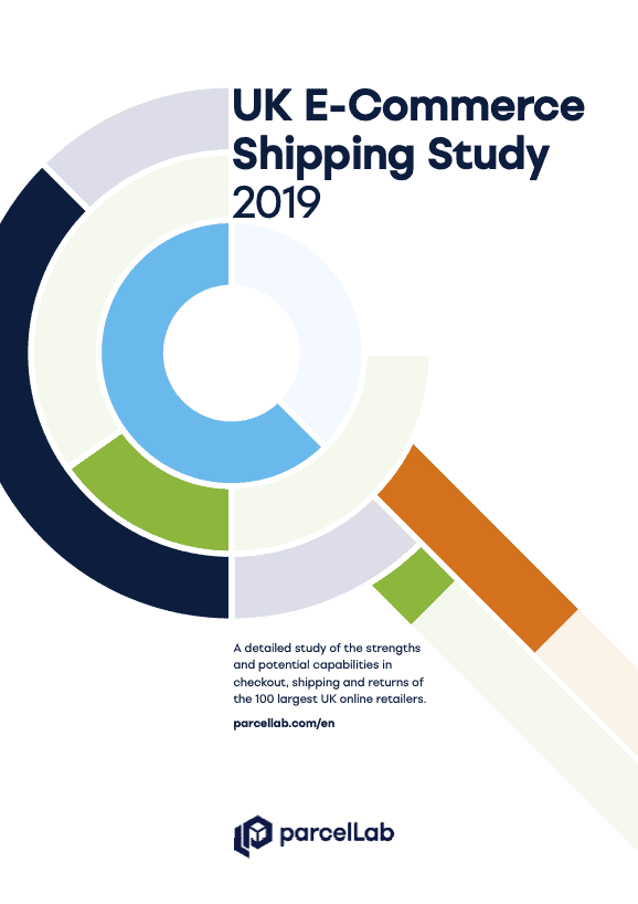 parcellab uk ecommerce shipping study 2019 infographic of magnifying glass